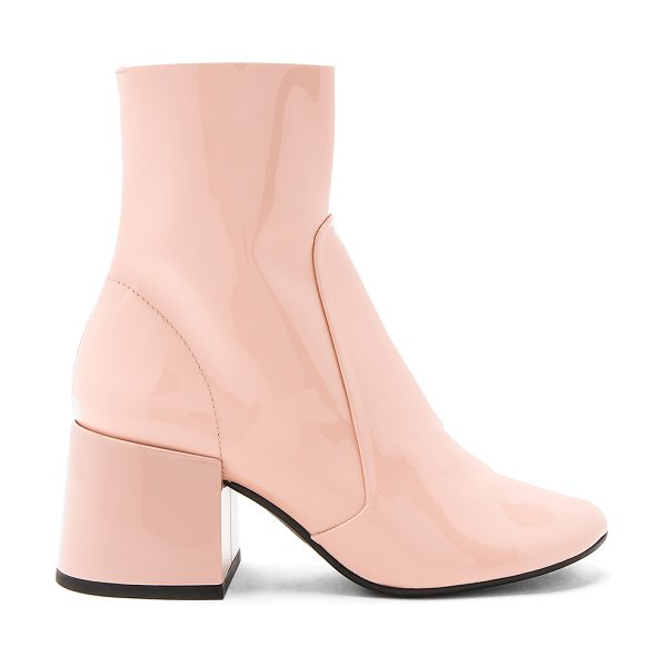 "Jeffrey Campbell Ashcroft Bootie in blush - ""Patent leather upper with man made sole. Side zip..."