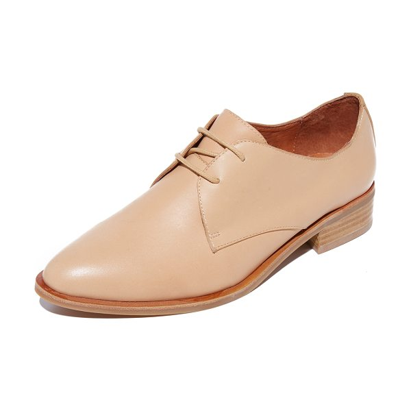 Jeffrey Campbell beckham oxfords in nude - Menswear-inspired Jeffrey Campbell oxfords in a bold,...