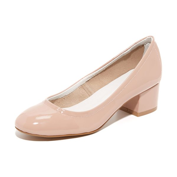 Jeffrey Campbell bitsie ii pumps in taupe - Simple Jeffrey Campbell pumps styled in soft patent...
