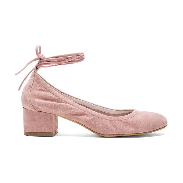 Jeffrey Campbell Bitsie Rev Heels in rose - Suede upper with man made sole. Wrap ankle with tie...