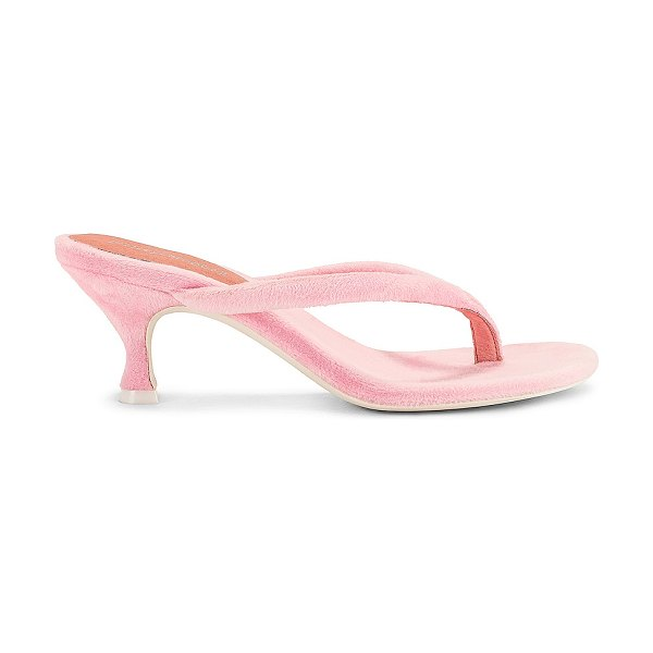 Jeffrey Campbell brink mule in pink terry cloth