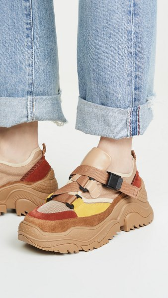 Jeffrey Campbell climb sneakers in natural combo