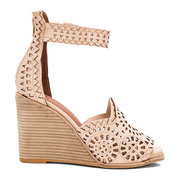 JEFFREY CAMPBELL Del Sol H Wedge - Leather upper with man made sole. Back zip closure....