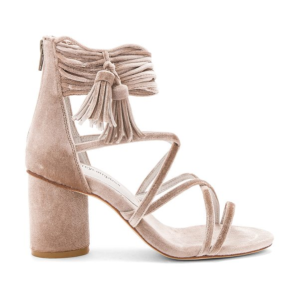Jeffrey Campbell Despina Sandals in champagne velvet