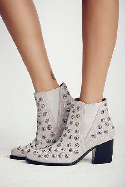 JEFFREY CAMPBELL + FREE PEOPLE After dark boot - These pull-on ankle boots are diamond dazzlers....