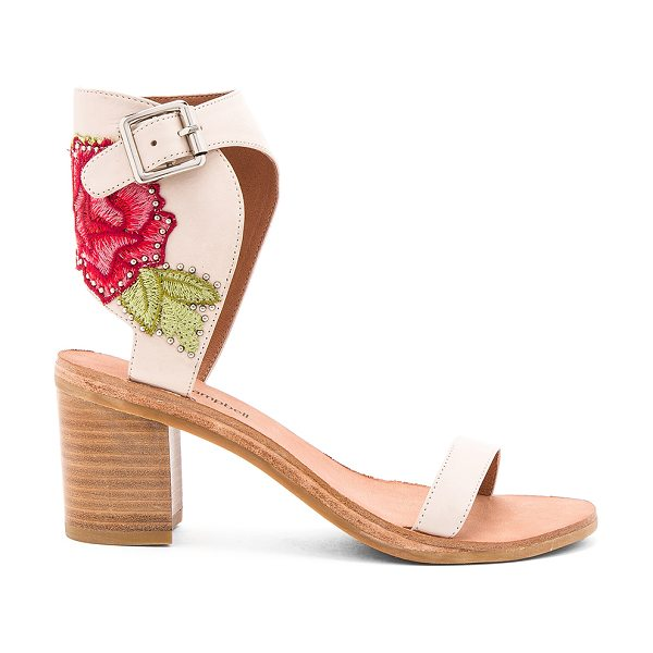 Jeffrey Campbell Iowa REV Sandals in natural red combo - Leather upper with man made sole. Ankle strap with...