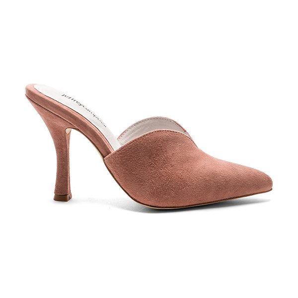 "Jeffrey Campbell Jodeci Heel in pink - ""Suede upper with man made sole. Slip-on styling. Heel..."