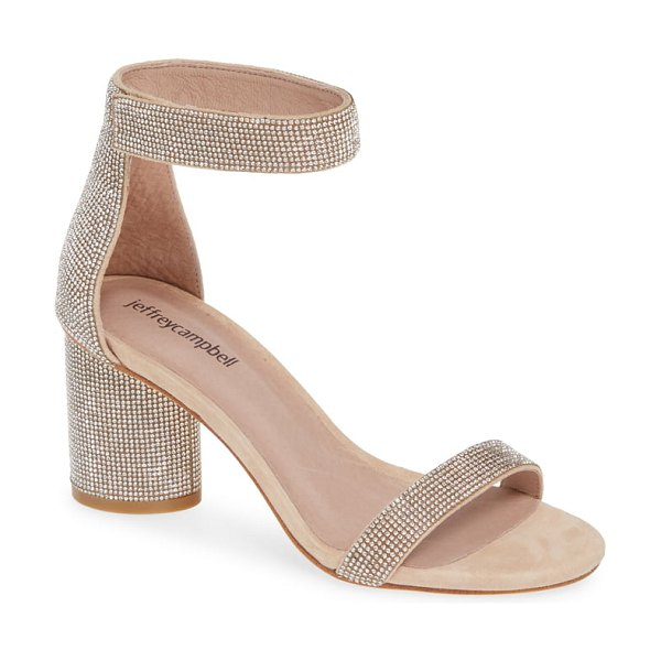 Jeffrey Campbell laura ankle strap sandal in beige