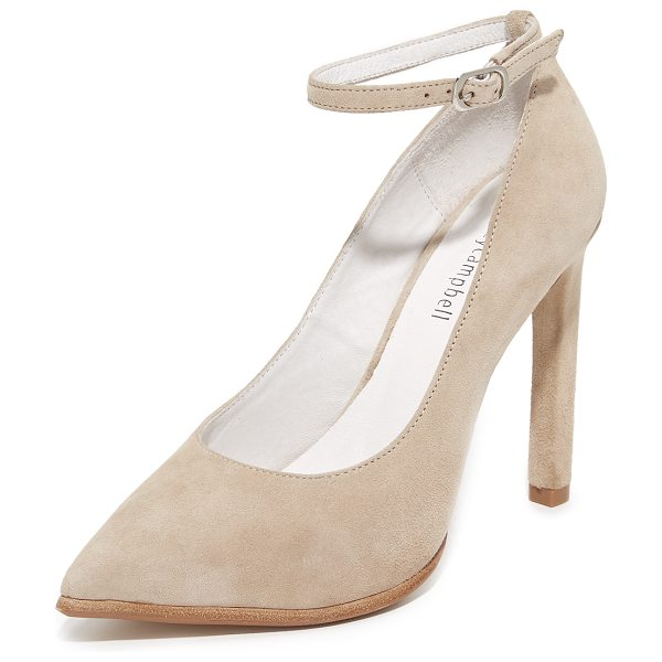 Jeffrey Campbell lentine pumps in nude - Pointed-toe Jeffrey Campbell pumps with a buckle strap...