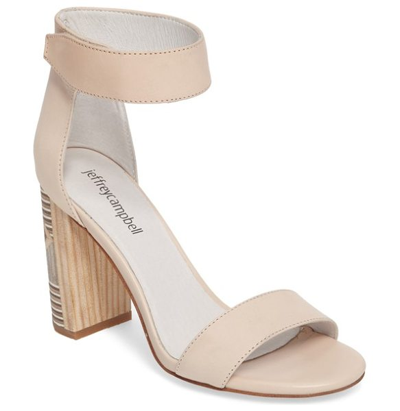 Jeffrey Campbell lindsay geo-heel sandal in natural