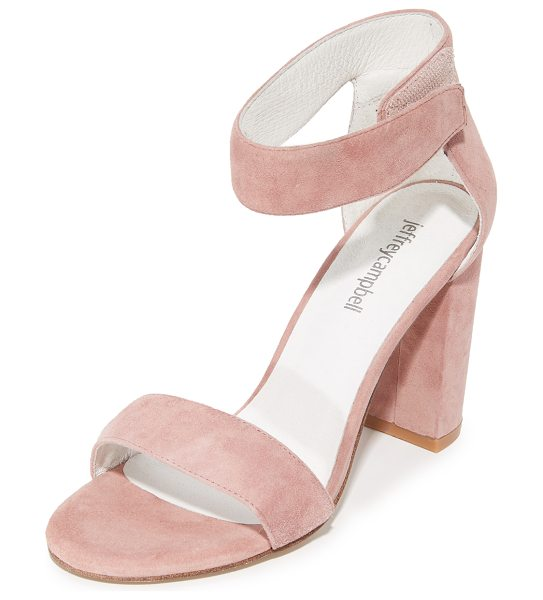 Jeffrey Campbell lindsay sandals in pink - Refined Jeffrey Campbell sandals styled in smooth suede....