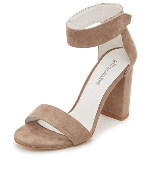 Jeffrey Campbell lindsay sandals in taupe - Refined Jeffrey Campbell sandals styled in smooth suede....