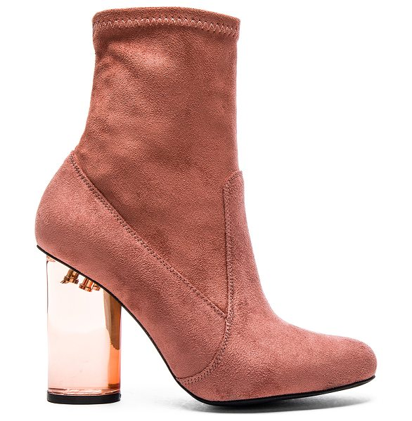 Jeffrey Campbell Lucine lo booties in pink - Suede textile upper with rubber sole. Side zip closure....