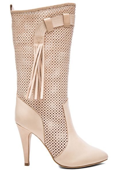 Jeffrey Campbell Malene boots in beige - Leather upper with man made sole. Cut-out detail. Side...