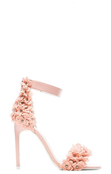 Jeffrey Campbell Meryl floral heel in pink - Leather upper with man made sole. Heel measures approx...