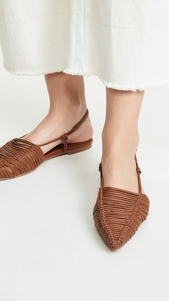 Jeffrey Campbell myron point toe flats in tan