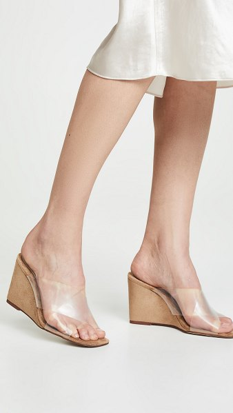 Jeffrey Campbell mystical wedge slides in natural/clear