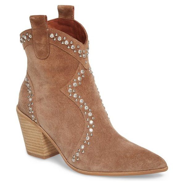 JEFFREY CAMPBELL nightwing crystal stud bootie - Crystal-centered studs punctuate the Western-inspired...