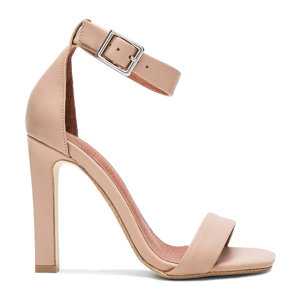 JEFFREY CAMPBELL Obus Heel in blush - Leather upper with man made sole. Ankle strap with...