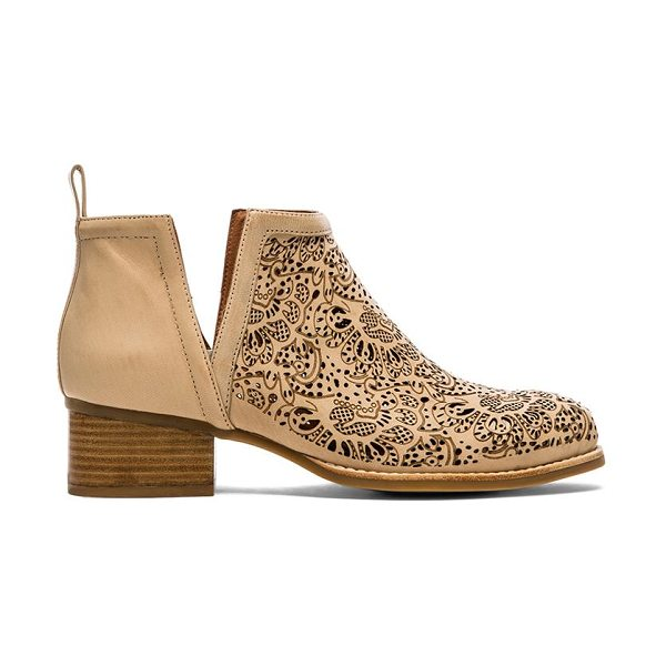 JEFFREY CAMPBELL Oriley bootie - Leather upper with rubber sole. Heel measures approx...