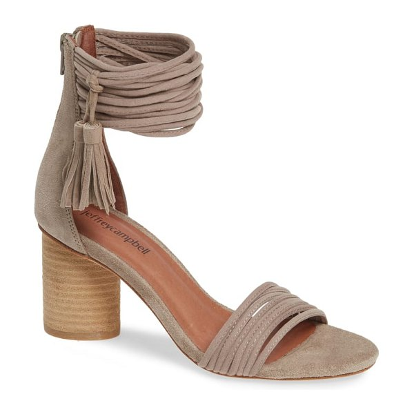 Jeffrey Campbell pallas ankle strap sandal in brown