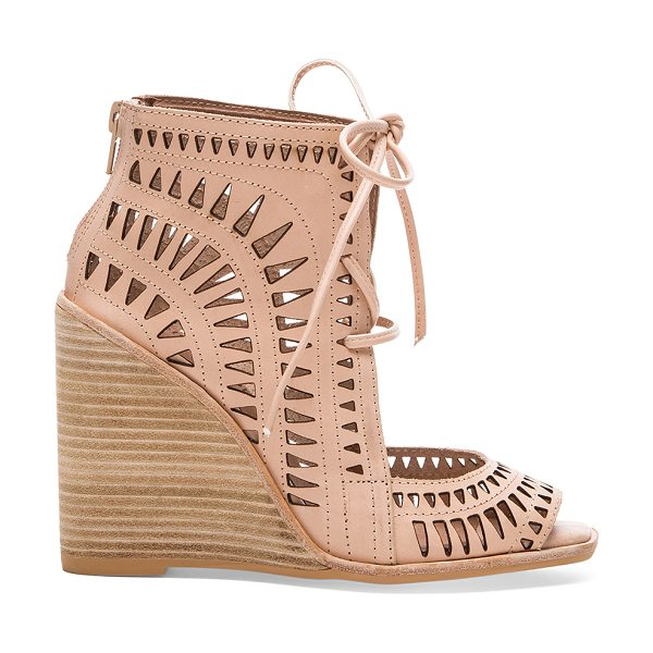 JEFFREY CAMPBELL Rodillo hi wedge - Leather upper with man made sole. Wedge measures approx...