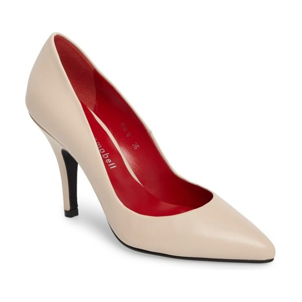 Jeffrey Campbell sachi pointy toe pump in natural - Timeless styling mixed with the enhanced comfort of a...