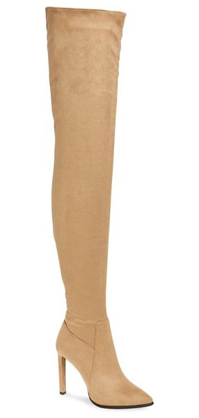 Jeffrey Campbell 'sherise' over the knee boot in beige suede - Major fashion moments are inevitable with this boldly...