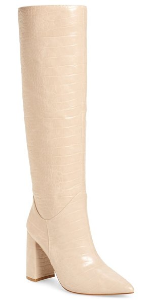 Jeffrey Campbell siren knee high boot in beige