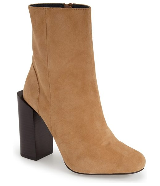JEFFREY CAMPBELL stratford boot - An offset stacked heel adds an architectural element to...