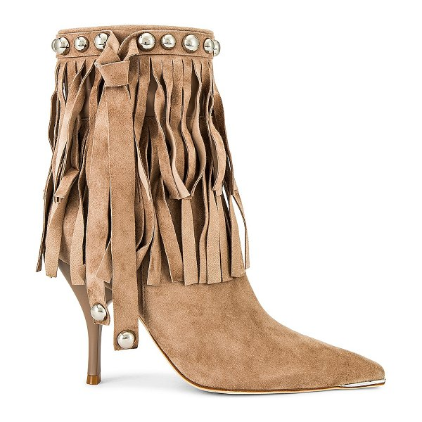 Jeffrey Campbell trotting boot in natural suede