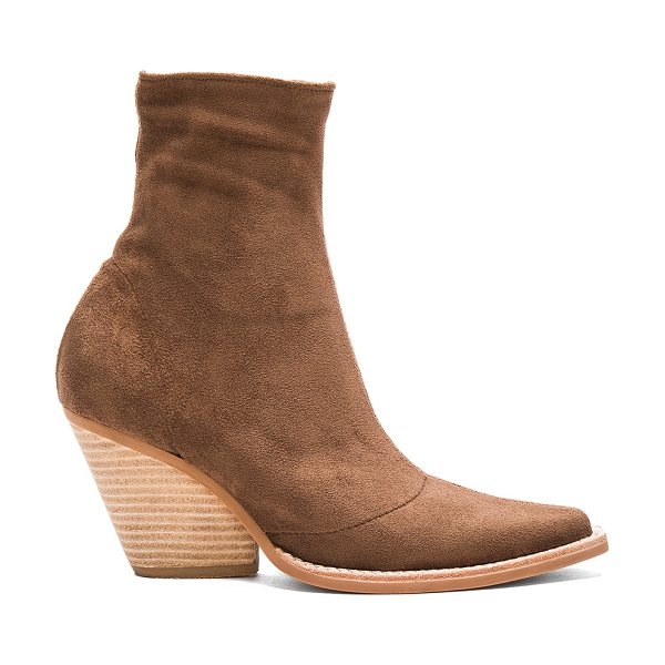 JEFFREY CAMPBELL Walton Booties - Faux suede upper with man made sole. Side zip closure....