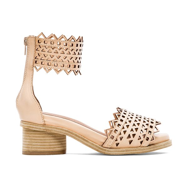 Jeffrey Campbell X revolve borgia sandal in beige - Leather upper with man made sole. Heel measures approx...