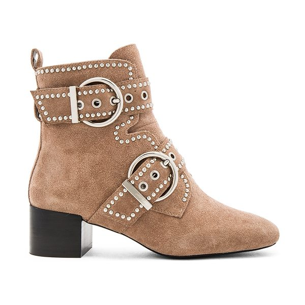 Jeffrey Campbell x REVOLVE Cygnet St Booties in taupe - Suede upper with man made sole. Side zip closure....