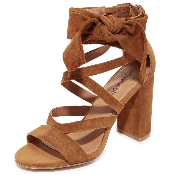 Jeffrey Campbell yasmina sandals in tan - A knotted bow and slim straps compose the substantial...