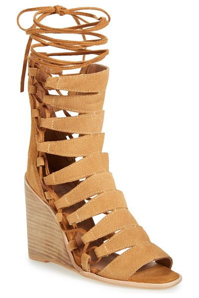 JEFFREY CAMPBELL zaferia gladiator wedge sandal - Channel your inner Roman goddess in a scene-stealing...