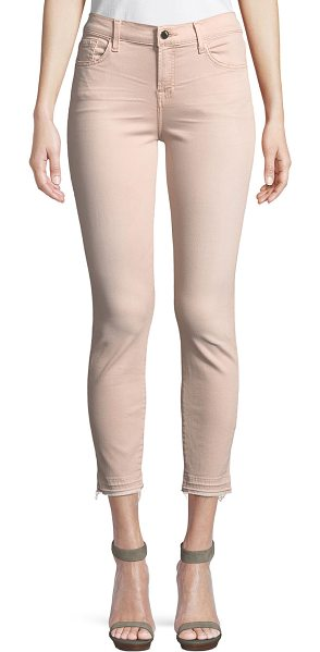 Jen7 Ankle Skinny Jeans in mauve - Jen7 by 7 For All Mankind jeans in solid stretch-denim....