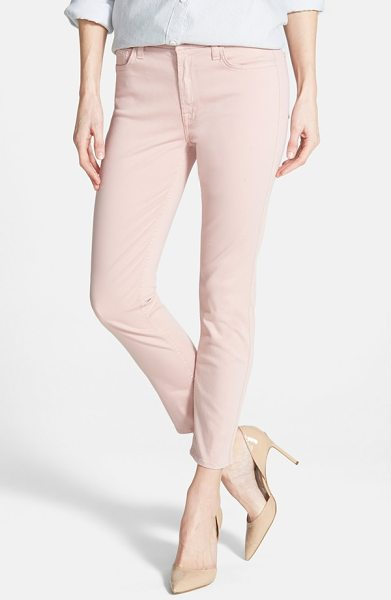 Jen7 Jen 7 sateen skinny ankle pants in blush pink - A go-to choice for casual days, pants cropped to an...