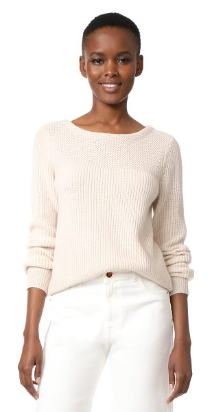 JENNI KAYNE boat neck cashmere sweater in wheat - This luxurious cashmere Jenni Kayne pullover is detailed...