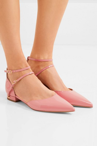 Jennifer Chamandi enrico patent-leather point-toe flats in pink - EXCLUSIVE AT NET-A-PORTER.COM. Jennifer Chamandi's flats...