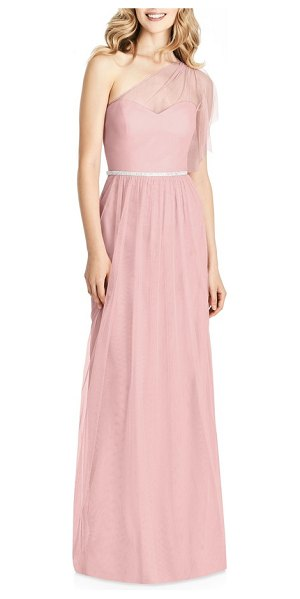 Jenny Packham one-shoulder tulle gown in pink