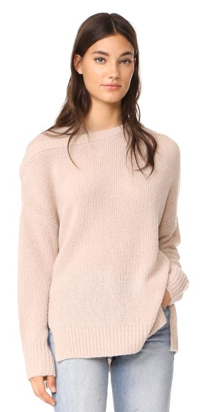 JENNY PARK dena cashmere sweater in oatmeal - This super-soft JENNY PARK sweater is updated with...