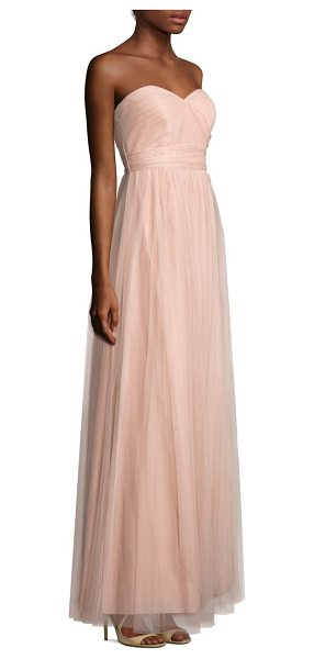 Jenny Yoo annabelle tulle convertible dress in cameopink - A-line gown with convertible straps and built-in bust...
