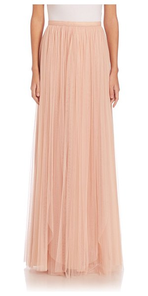 Jenny Yoo arabella tulle maxi skirt in cameopink - Flowing A-line skirt in feminine tulle. Banded waist....