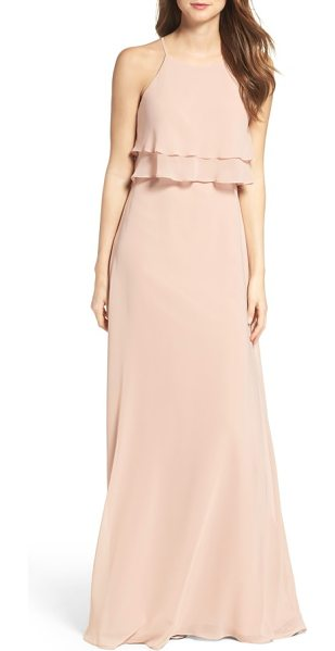 Jenny Yoo charlie ruffle bodice gown in desert rose - Sophisticated ruffles make an elegant appearance on a...