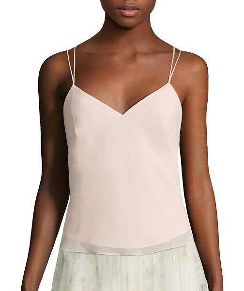 Jenny Yoo emmerson crisscross back camisole in blush - Effortless camisole trimmed with crisscross back.V-neck....