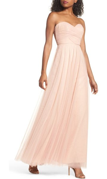Jenny Yoo julia convertible soft tulle gown in cameo pink - Ethereal tulle overlays a wispy strapless gown designed...