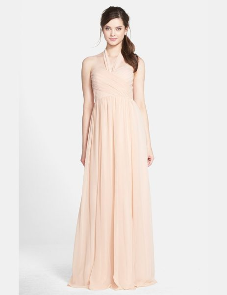 JENNY YOO leah convertible chiffon gown - A crisscrossed sweetheart bodice, defined waist and...