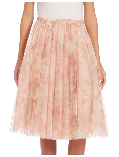 Jenny Yoo lucy printed tulle midi skirt in blushmulti - Ethereal A-line skirt in ladylike printed tulle. Banded...