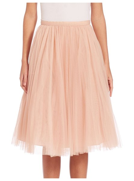 Jenny Yoo lucy tulle midi skirt in cameopink - Whimsical tulle skirt in A-line silhouette. Banded...
